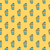 Colored background for supplements shaker Royalty Free Stock Images