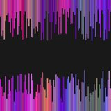 Colored background from vertical rounded stripes in dark tones - abstract graphic design Stock Photos