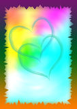 Colored Background With Hearts Royalty Free Stock Photos