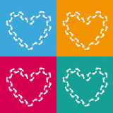 4 Colored Backgrounds Hearts Royalty Free Stock Images