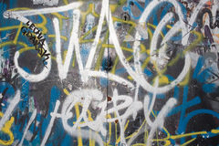 Grafitti on the wall. Royalty Free Stock Images