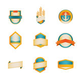Colored Badge Template Series 1 of 5 Stock Images