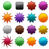 Colored badges Royalty Free Stock Images
