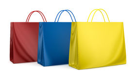 Colored bags Royalty Free Stock Photography