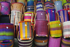 Colored bags. Bags in a market in Provence Royalty Free Stock Image