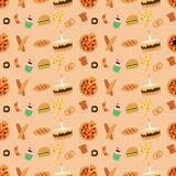 Colored bakery seamless pattern Royalty Free Stock Photos