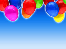 Colored ballons card Stock Image