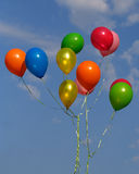 Colored balloons Stock Image