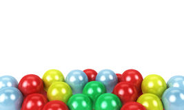 Colored balloons as a background with space for text. Isolated on a white background Royalty Free Stock Photos
