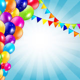 Colored Balloons Background, Vector Illustration Royalty Free Stock Photo