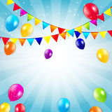 Colored Balloons Background, Vector Illustration Stock Image