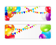 Colored Balloons Background, Vector Illustration Royalty Free Stock Photos