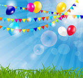Colored Balloons Background, Vector Illustration Stock Photo