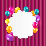 Colored Balloons Background, Vector Illustration Royalty Free Stock Photography
