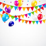 Colored Balloons Background, Vector Illustration Stock Images