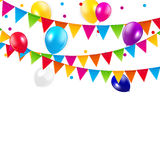 Colored Balloons Background, Vector Illustration Royalty Free Stock Images