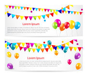 Colored Balloons Card Banner Background, Vector Stock Photography