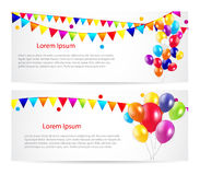 Colored Balloons Card Banner Background, Vector Royalty Free Stock Photo