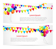 Colored Balloons Card Banner Background, Vector Royalty Free Stock Images