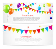 Colored Balloons Card Banner Background, Vector Stock Photo