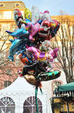 Colored balloons in Christmas market Royalty Free Stock Image