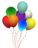 Colored balloons. Collection of colorful shiny balloons Stock Photo
