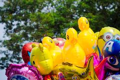Colored balloons with famous cartoon characters of Walt Disney- Brasov, Romania. Colored balloons with famous cartoon characters of Walt Disney - on Republic stock photo