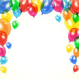 Colored balloons. Flying colored balloons on holiday background, illustration Royalty Free Stock Photography