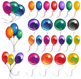 Colored balloons Stock Images