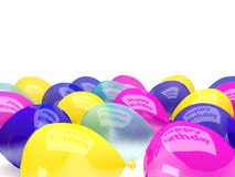 Colored balloons, isolated on white Stock Image