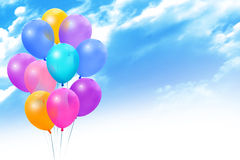 Colored Balloons On Blue Sky Stock Photography