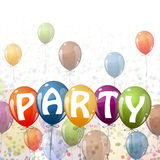 colored balloons - Party Royalty Free Stock Image
