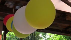 Colored balloons party Stock Photos