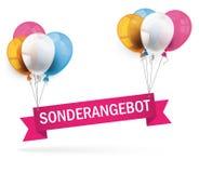 Colored Balloons Ribbon Sonderangebot Royalty Free Stock Photo