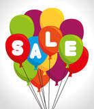 Colored balloons sale design Stock Photo