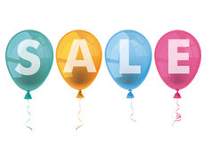 4 Colored Balloons Sale Stock Images