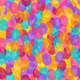 Colored balloons seamless pattern Royalty Free Stock Images