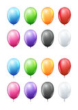 Colored balloons set. Colored realistic vector balloons set,  on white Stock Image