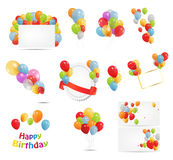 Colored Balloons Set, Vector Illustration Stock Photography