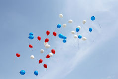 Colored balloons on sky Stock Image