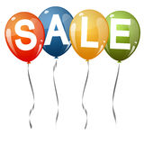 Colored balloons with text SALE Royalty Free Stock Photography