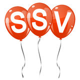 colored balloons with text SSV Royalty Free Stock Photos