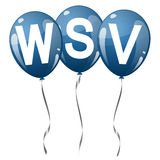colored balloons with text WSV Royalty Free Stock Image
