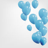 Colored balloons, vector illustration Stock Image