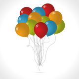 Colored balloons vector. Multicolored ballon vector for party or celebration birthday Stock Photos