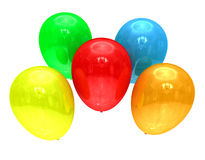 Colored balloons on white Stock Photo