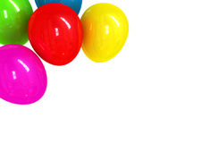 Colored balloons on white Royalty Free Stock Photo