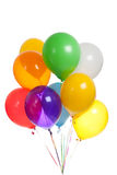 Colored balloons on a white background Stock Photos