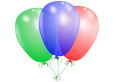 Colored balloons. On white background Royalty Free Stock Photography