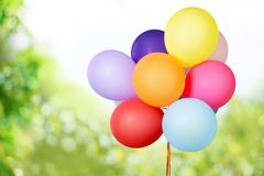 Colored balloons. White color colorful baloon clipping toy Royalty Free Stock Photos